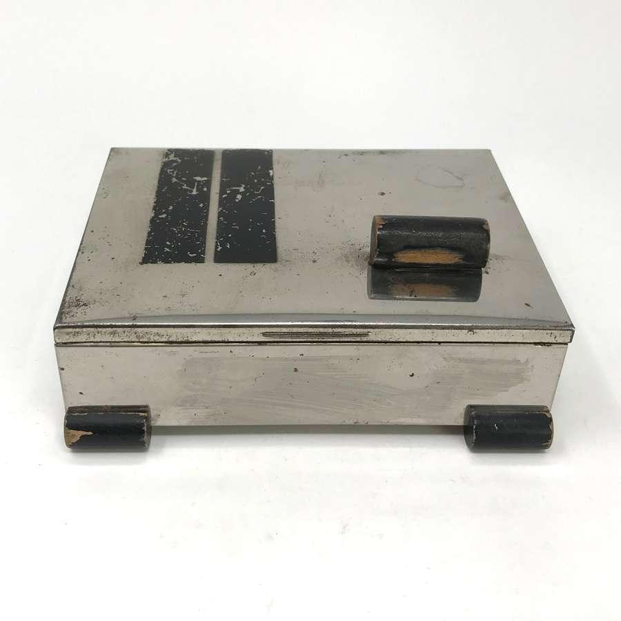 Marianne Brandt Metal and Wood Box Ruppelwerke Bauhaus 1930s