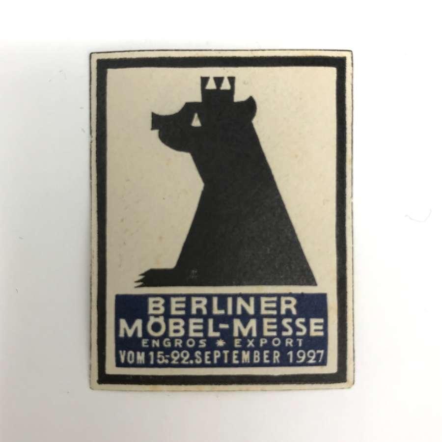 Bauhaus influenced Advertising Stamp Germany Furniture Fair 1927