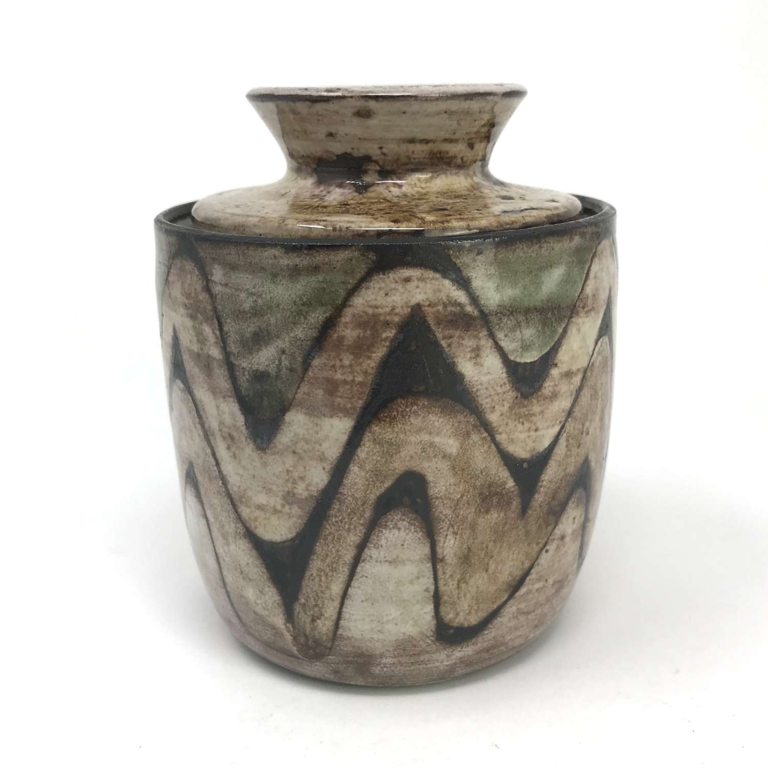 Robert Perot Lidded Pot Vieux Moulin Vallauris France 1960s