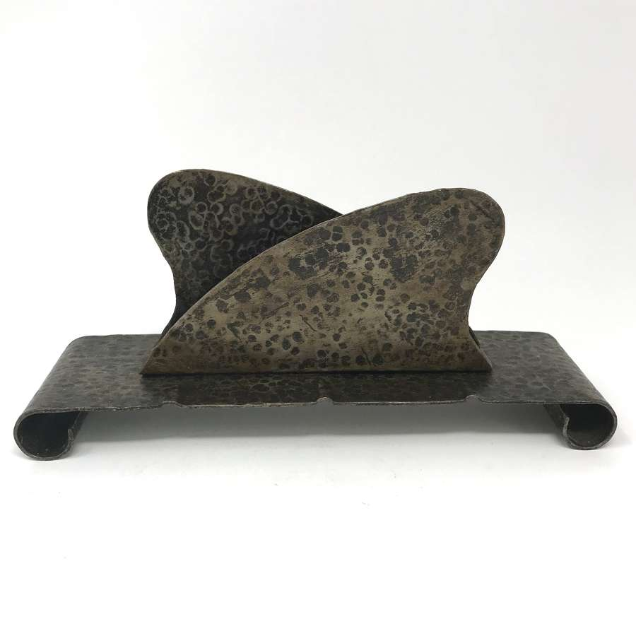 Amsterdam School Patinated Metal Letter Holder 1920s No. 3