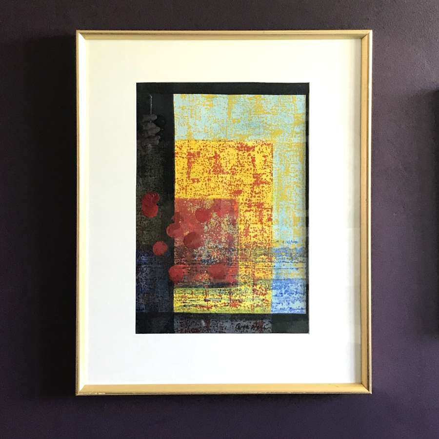 Roger Wolff Abstract Picture in Mixed Media Sweden.