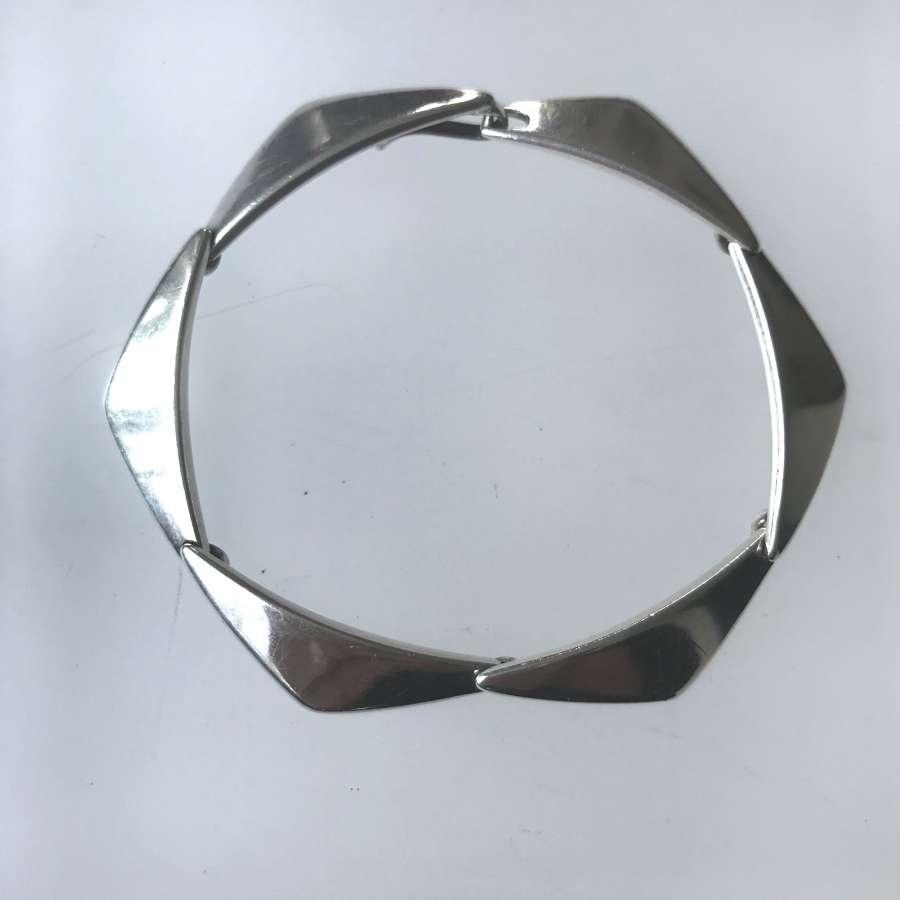 'Peak' bracelet by Bent Gabrielsen for Hans Hansen, Denmark c1960s