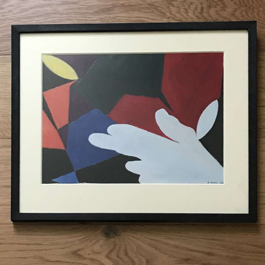 Jean Pons Abstract Gouache, France 1954