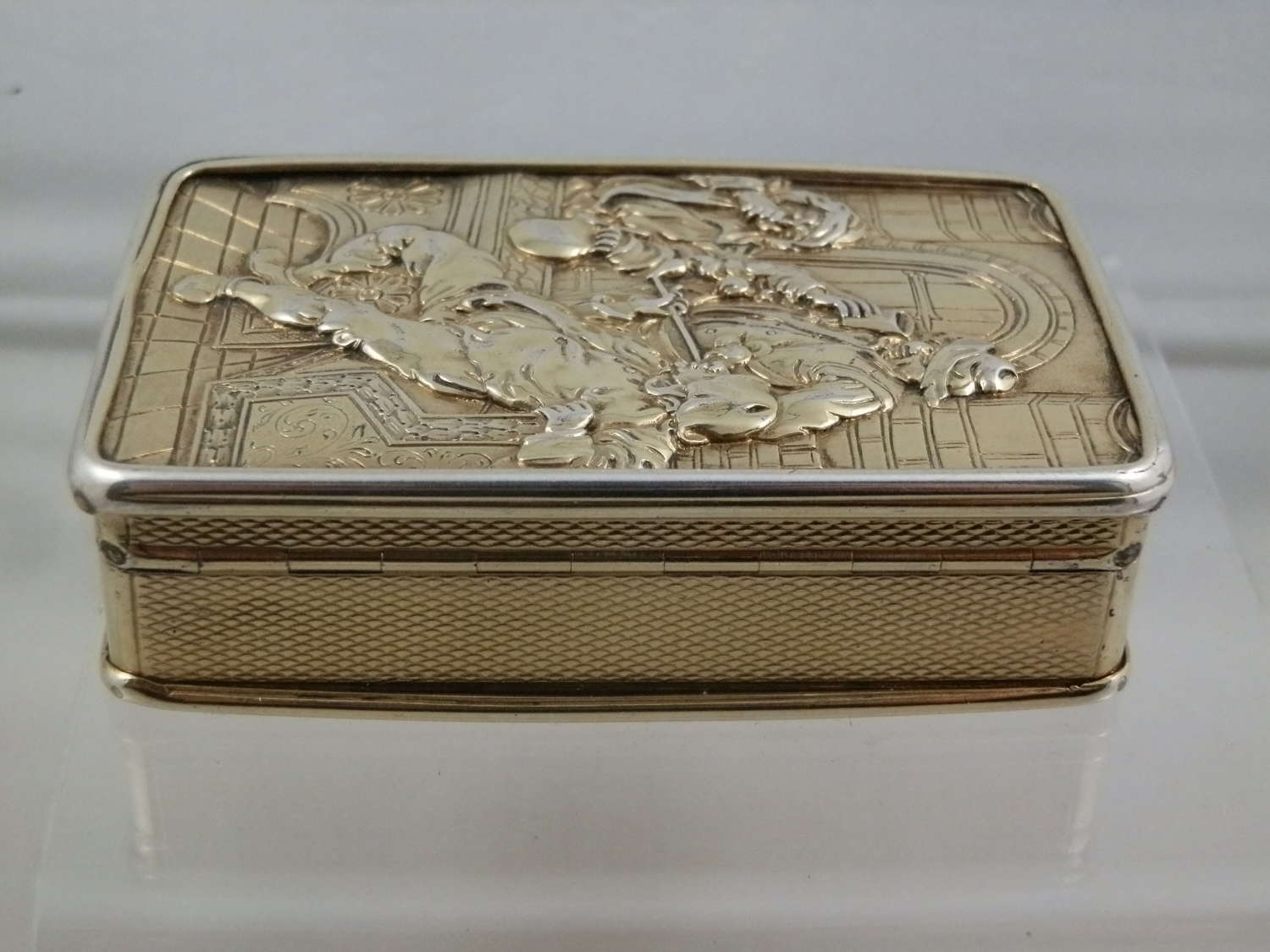 Silver Gilt Table Snuff Box
