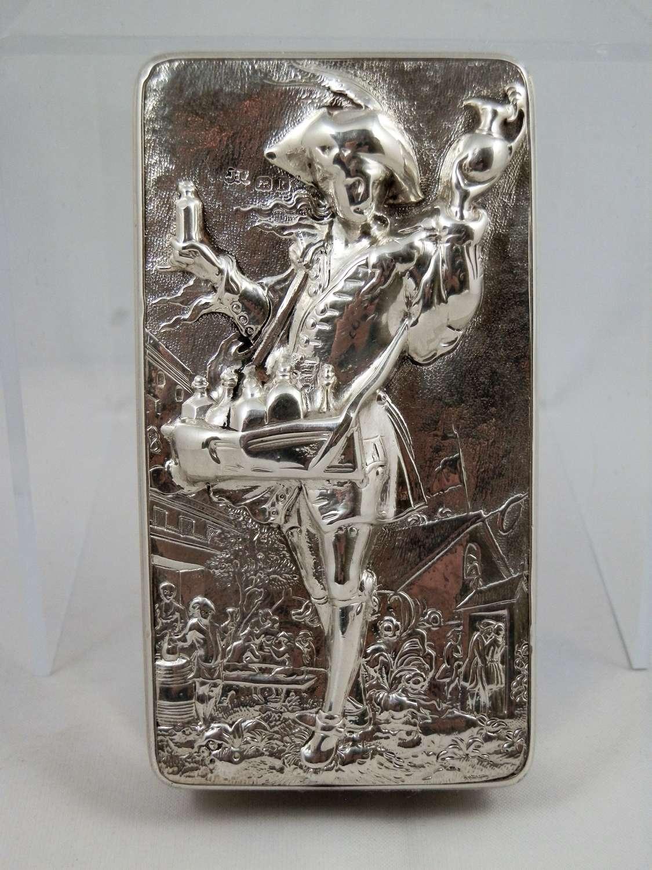 A rare Georgian silver pedlar snuff box by John Linnet 1825