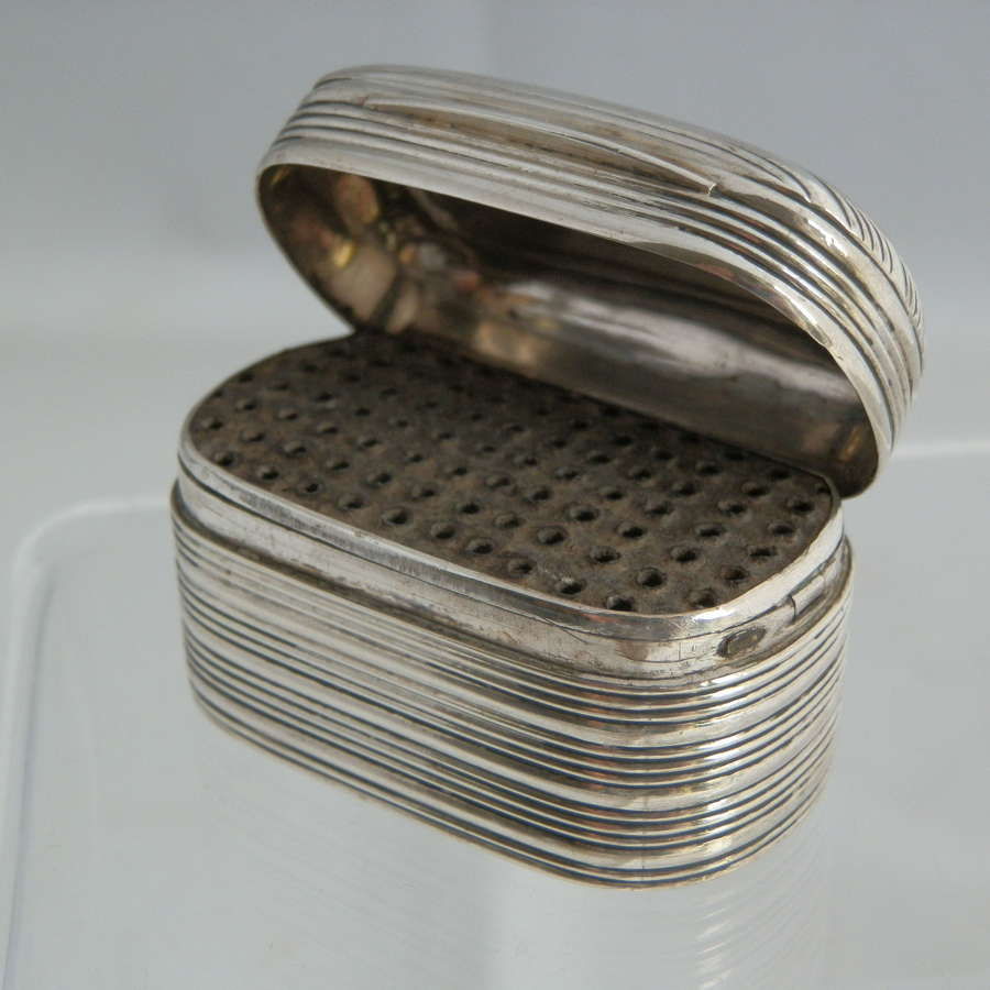 A scarce George IV silver nutmeg grater, Joseph Taylor 1821