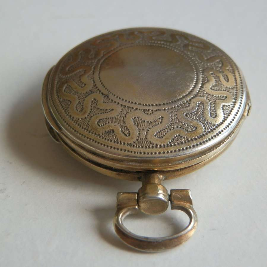 Rare George III silver gilt watch case vinaigrette, Samuel Pemberton