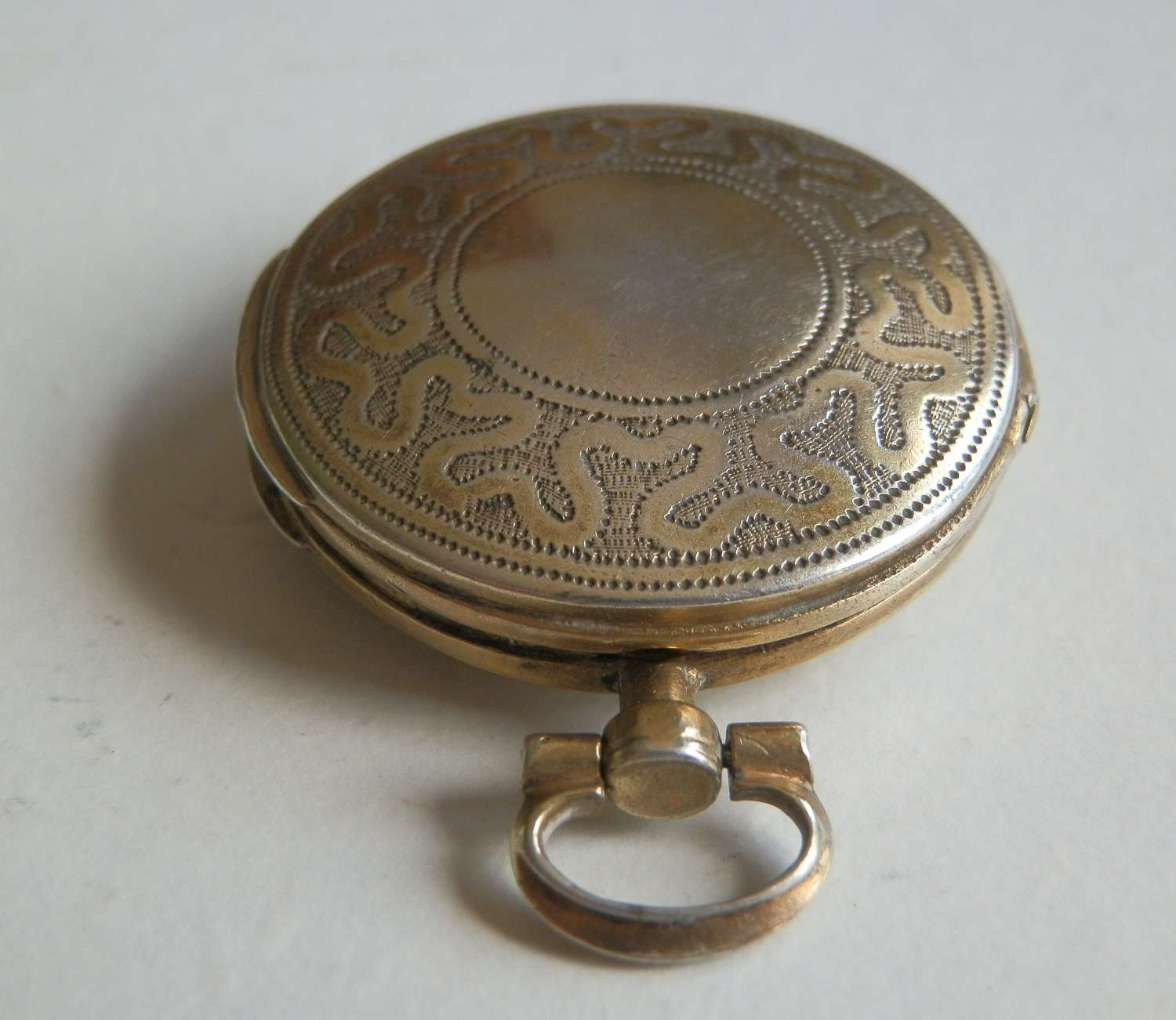 Rare George III silver gilt watch case vinaigrette, Samuel Pemberton