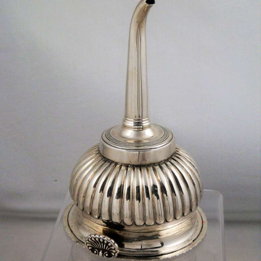 Silver George III wine funnel, London 1815