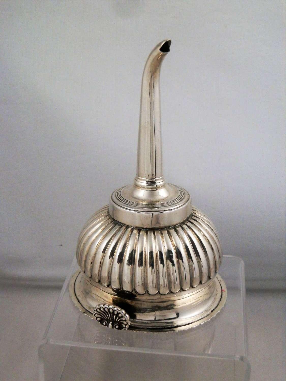 Silver George III wine funnel, London 1815