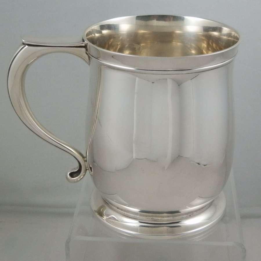 Silver pint tankard, Mappin and Webb, 1919