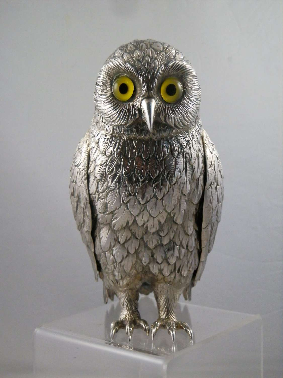 Silver Owl ornament, London, 1968