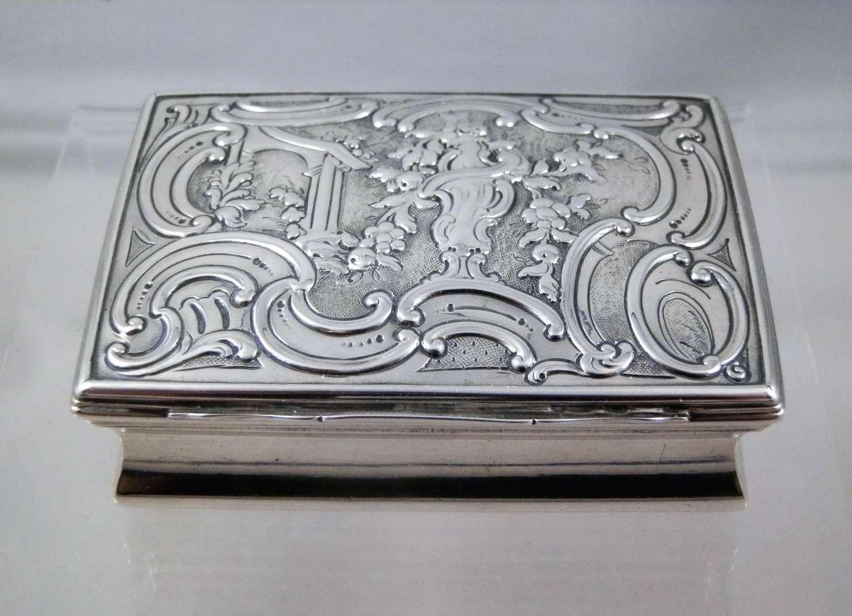 George III silver table snuff box, London 1760