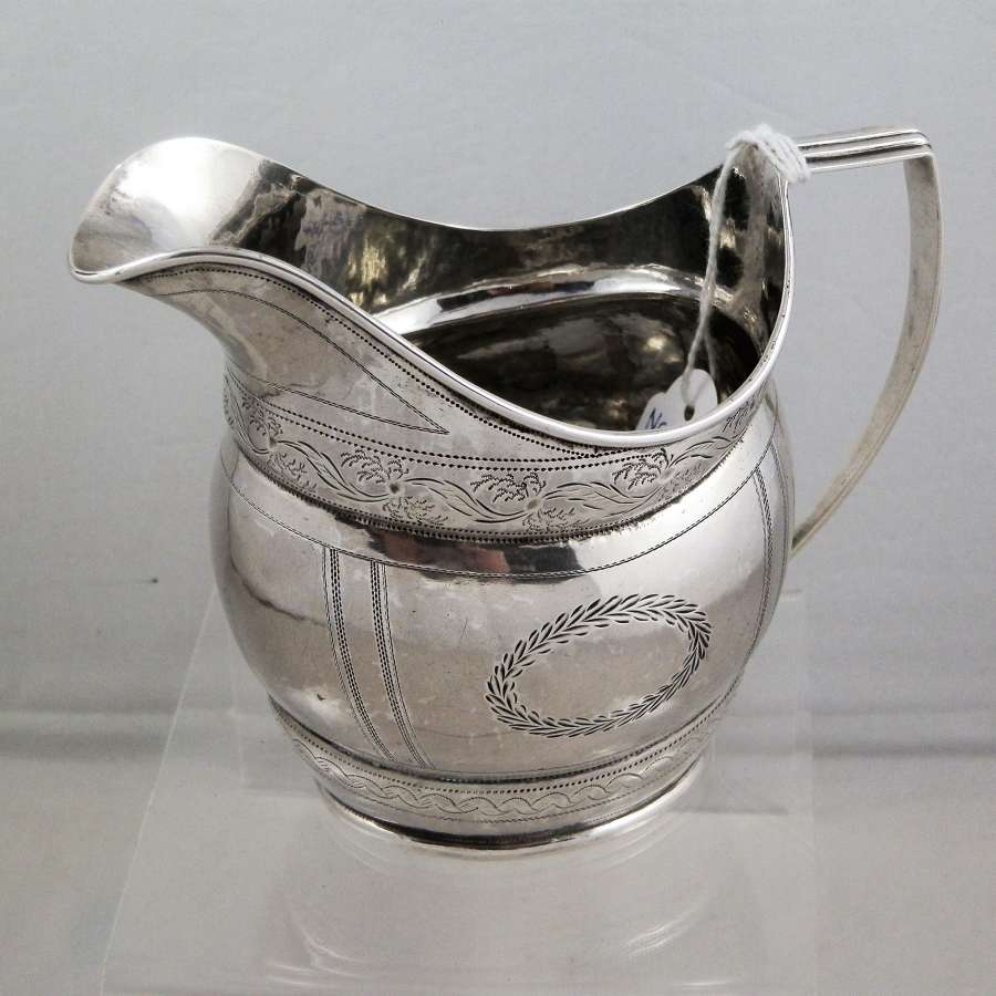 Newcastle silver cream jug, John Walton, c.1820