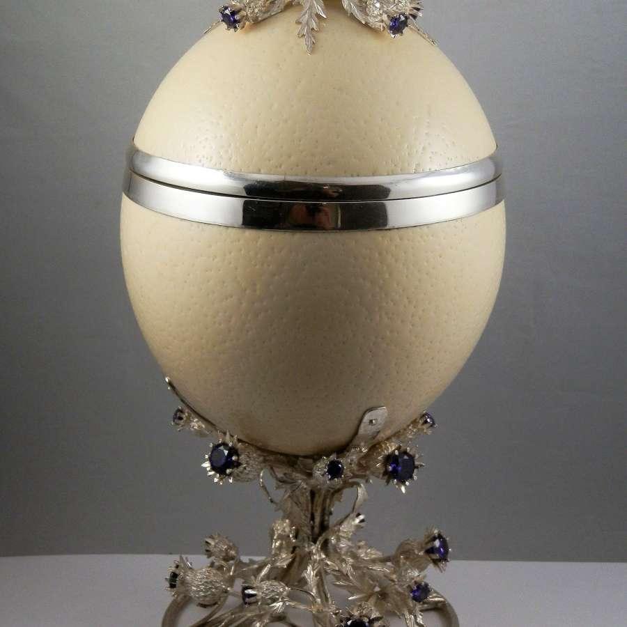 Silver mounted Ostrich egg, Edinburgh, 2019