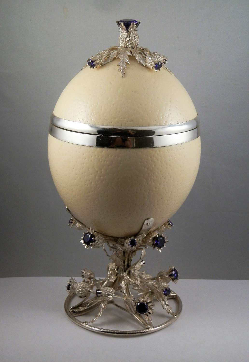 Silver mounted Ostrich egg, Edinburgh, 2019
