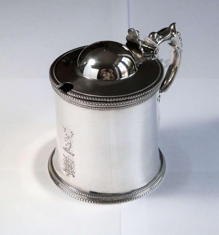 Victorian silver mustard pot, Birmingham, 1869
