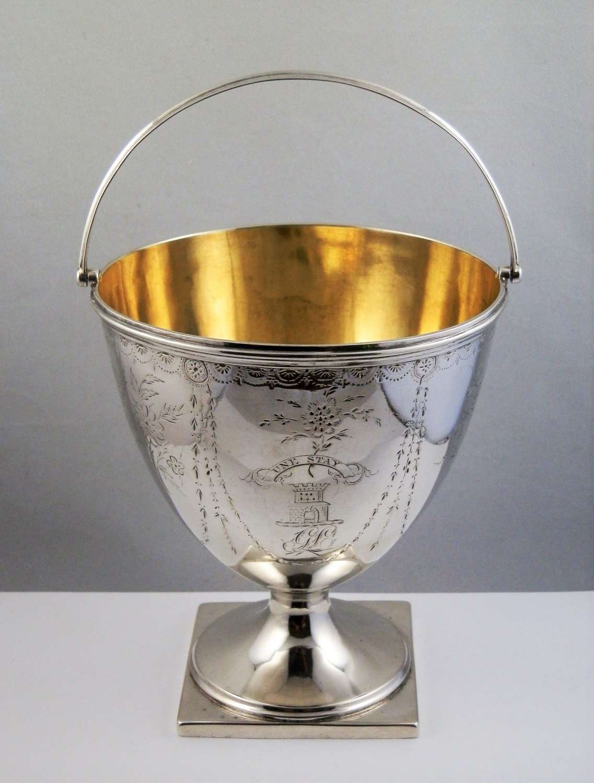 George III Glasgow silver sugar bowl, 1784