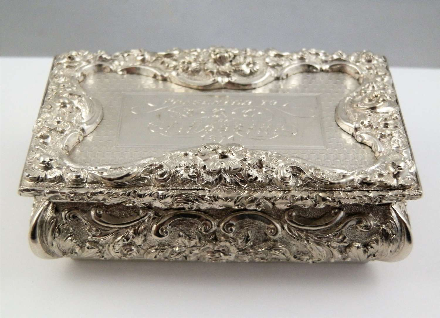 William IV silver snuff box, Birmingham 1835