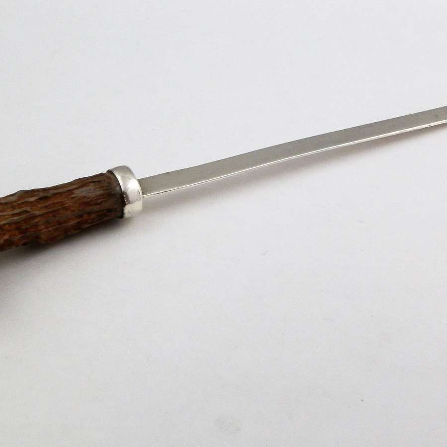 Scottish antler letter opener, Edinburgh 1971