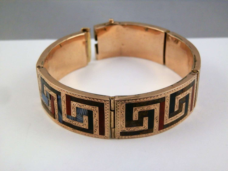 Scottish gold and agate bracelet, c.1867