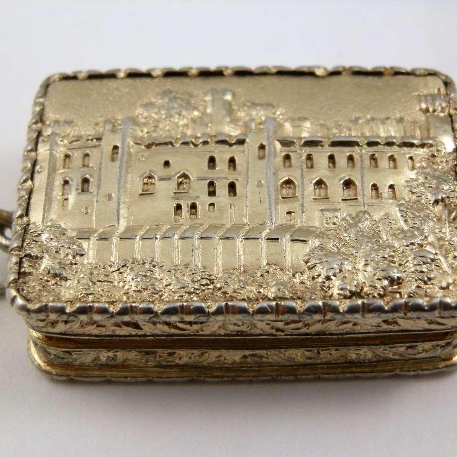 Victorian silver gilt vinaigrette