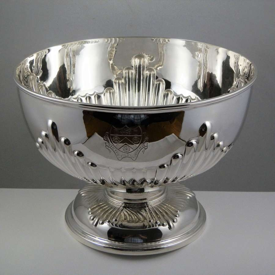 Scottish Victorian silver punch bowl, Edinburgh 1900