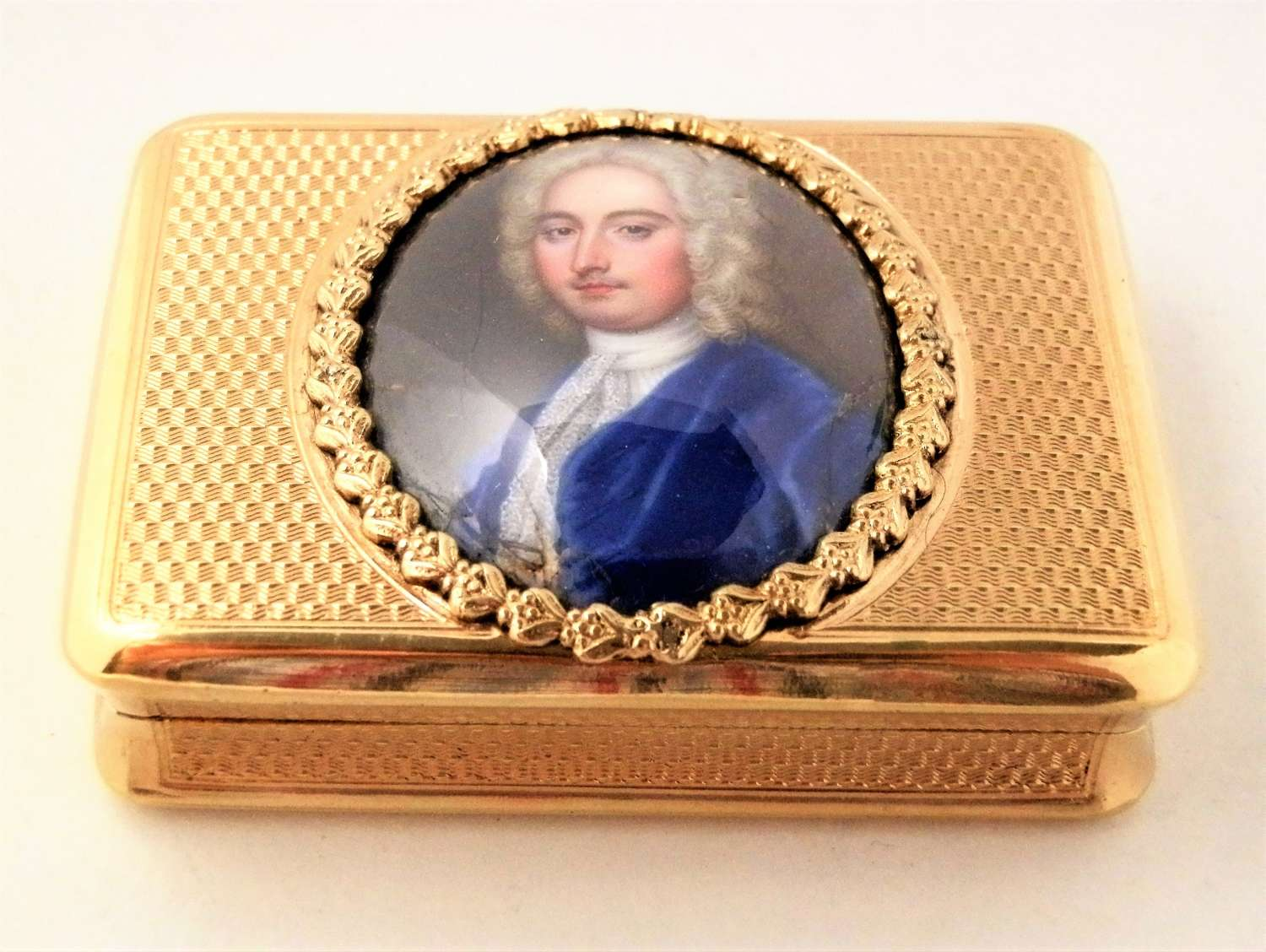 George III silver gilt portrait snuff box, London 1810