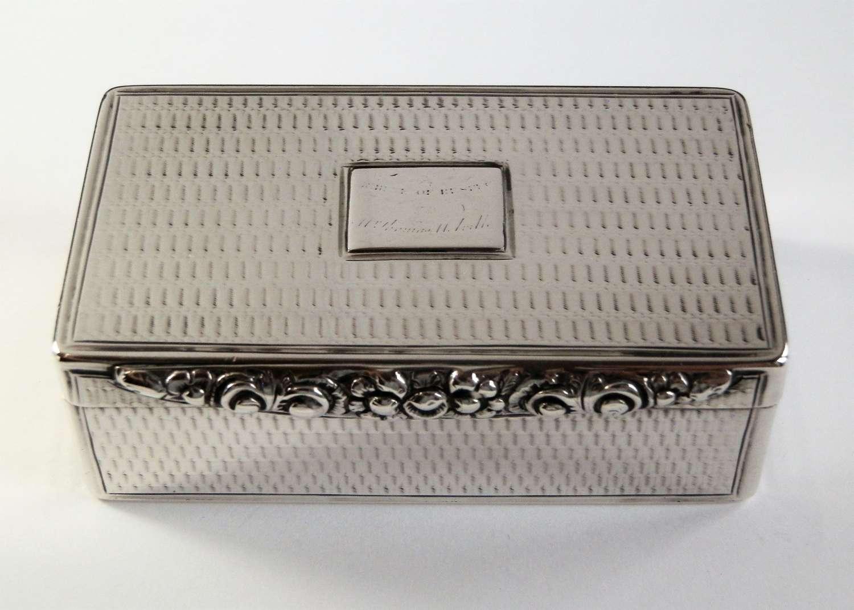 George III Scottish silver snuff box, Edinburgh c.1780