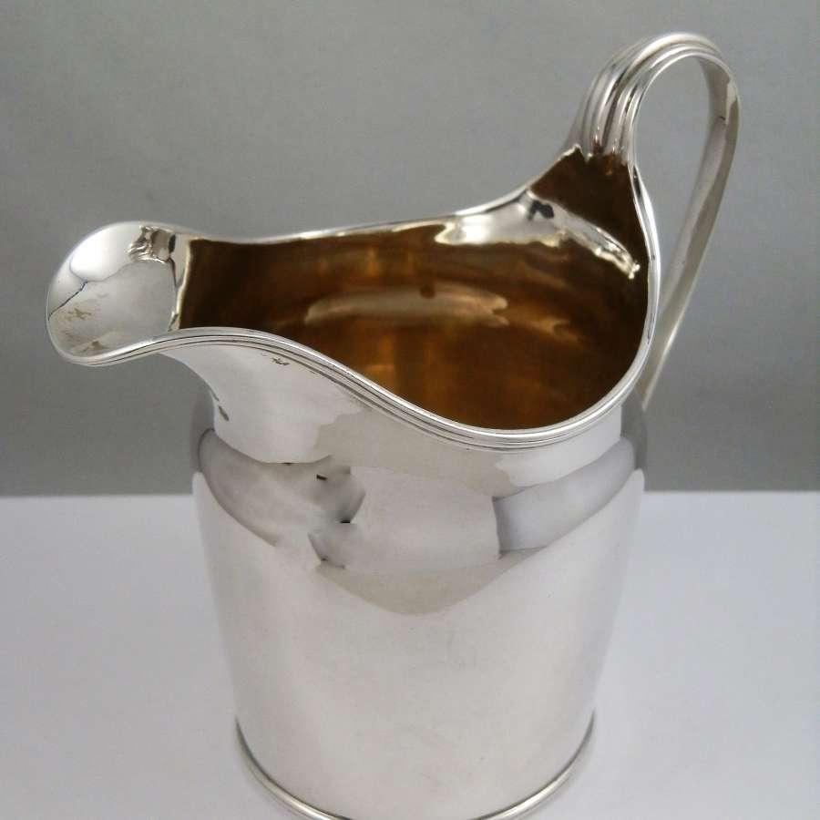 George III silver cream jug, London 1795
