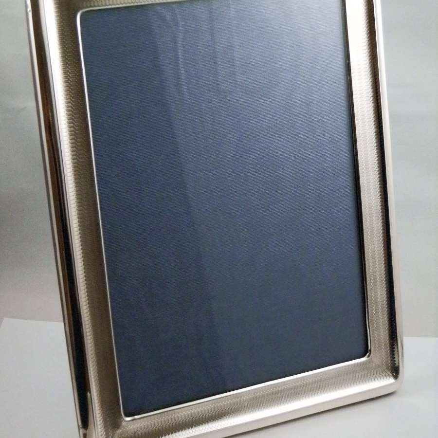 Edwardian silver A4 picture frame, 1910