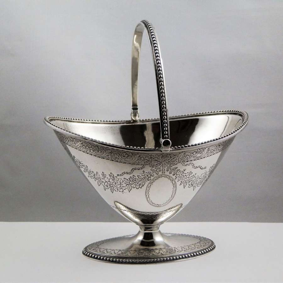 George III Scottish silver sugar bowl, 1783