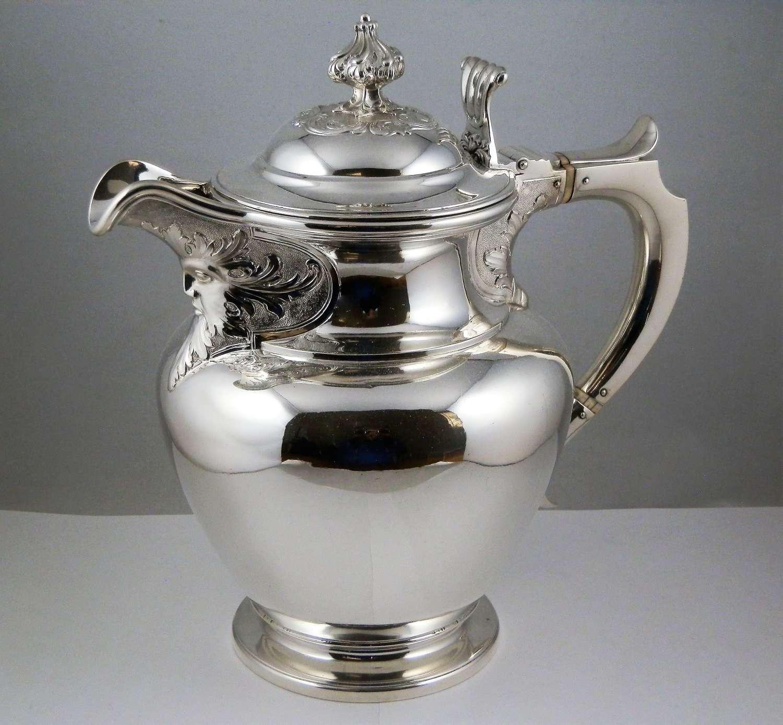 William IV very large Scottish Silver beer jug. 1836