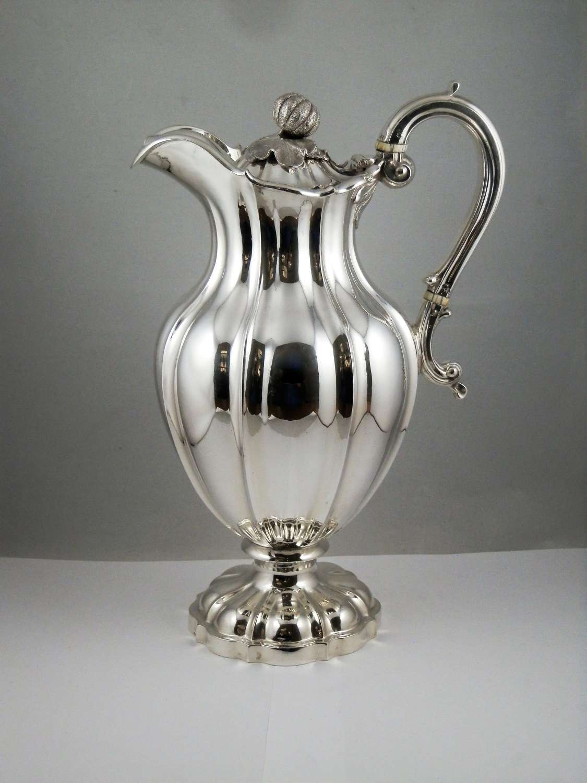 William IV silver wine jug or decanter, 1835
