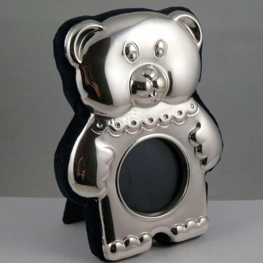 Teddy bear silver frame, Millennium mark, 2000