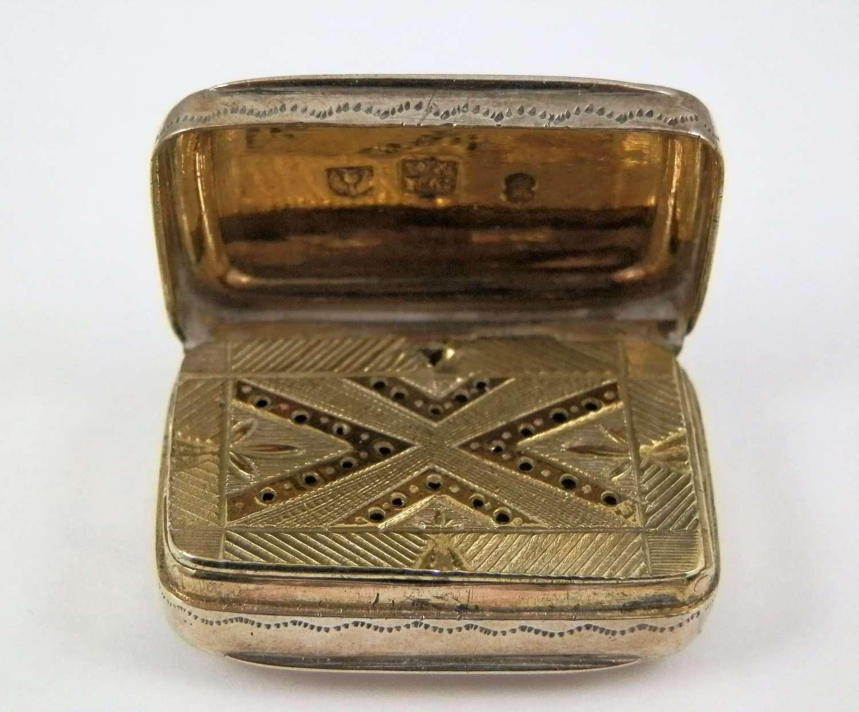 Scottish silver vinaigrette, Edinburgh c.1792