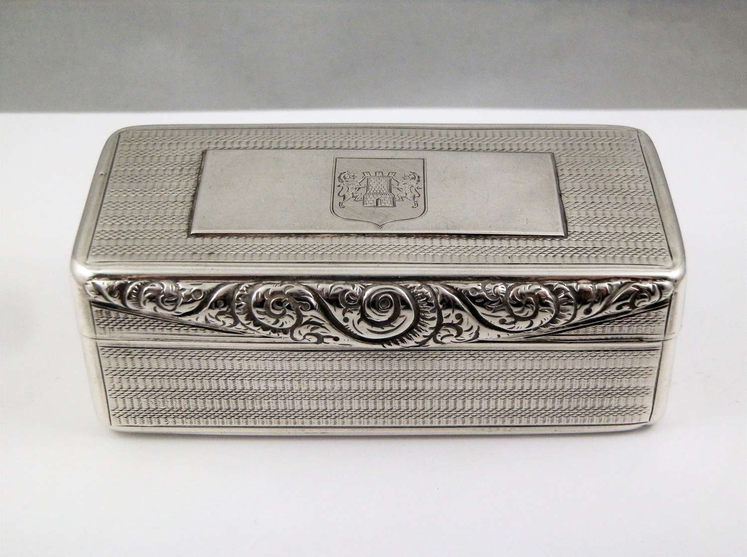 William IV silver table snuff box, Birmingham 1829