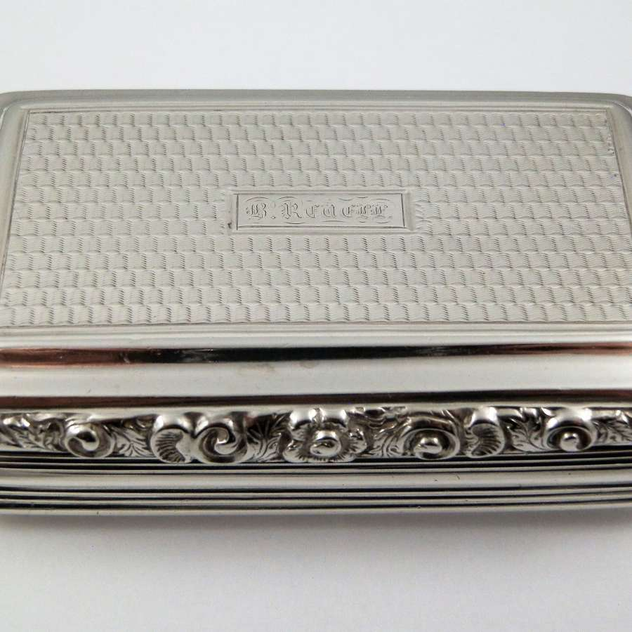 A William IV silver snuff box, Birmingham 1832