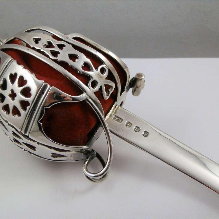 Scottish silver Broadsword paper knife, Edinburgh 1920