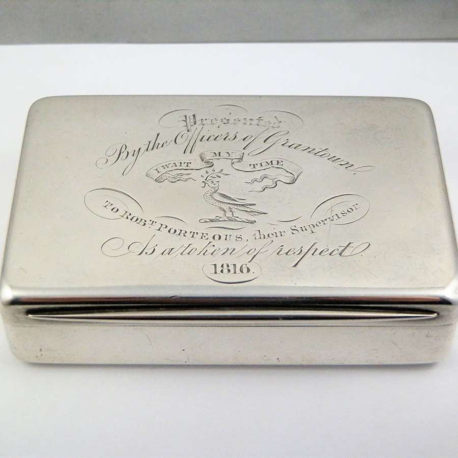 Victorian silver table snuff box,  Edward Smith Birmingham 1858
