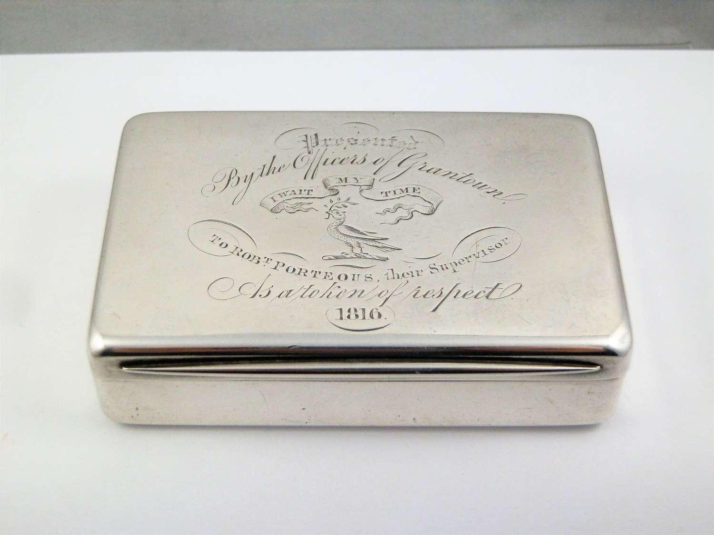 Victorian silver table snuff box,  Edward Smith Birmingham 1858