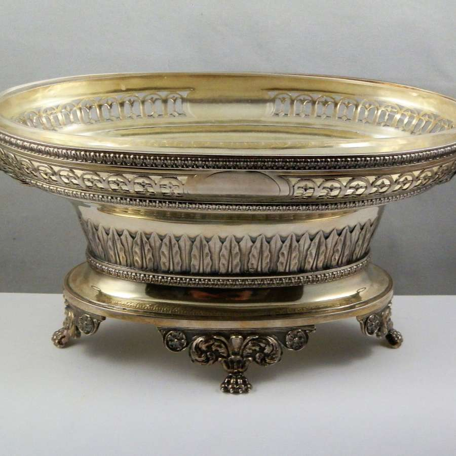 Edwardian silver gilt table centre by Sebastian Garrard, London 1910