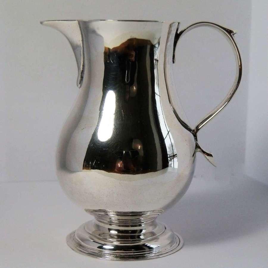 George II silver sparrow beak jug, John Gammon 1736