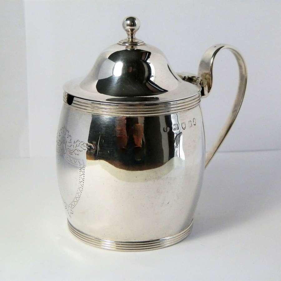 George III silver mustard pot, London 1800