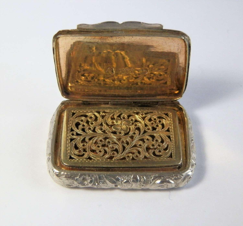 Victorian silver vinaigrette, Thropp & Co Birmingham 1842