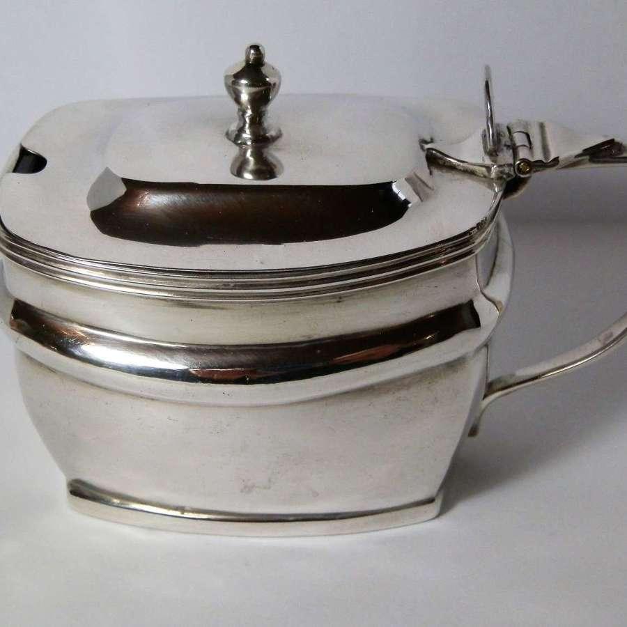 George III silver mustard pot, Stephen Adams, London 1809