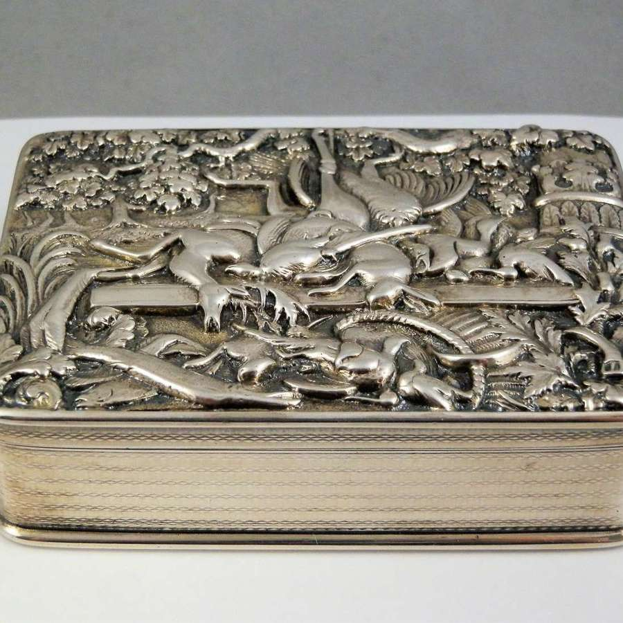 George III silver table snuff box, Thomas Foster 1819