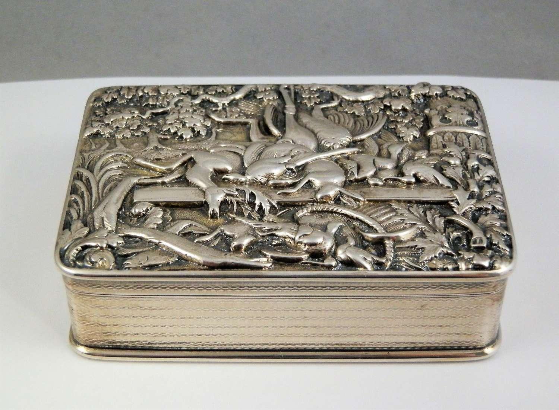 George III silver table snuff box, Thomas Foster 1819