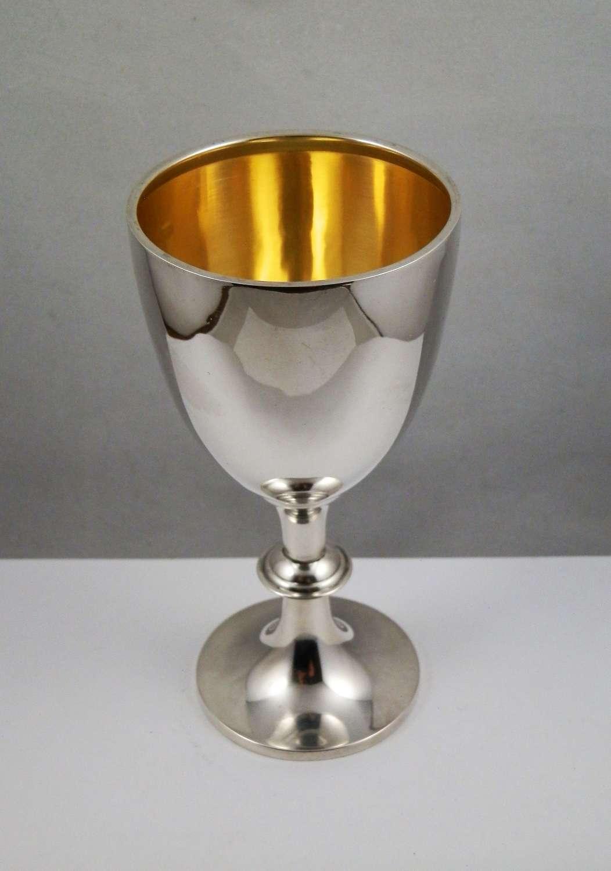Edwardian silver goblet by A&J Zimmerman, Birmingham 1910