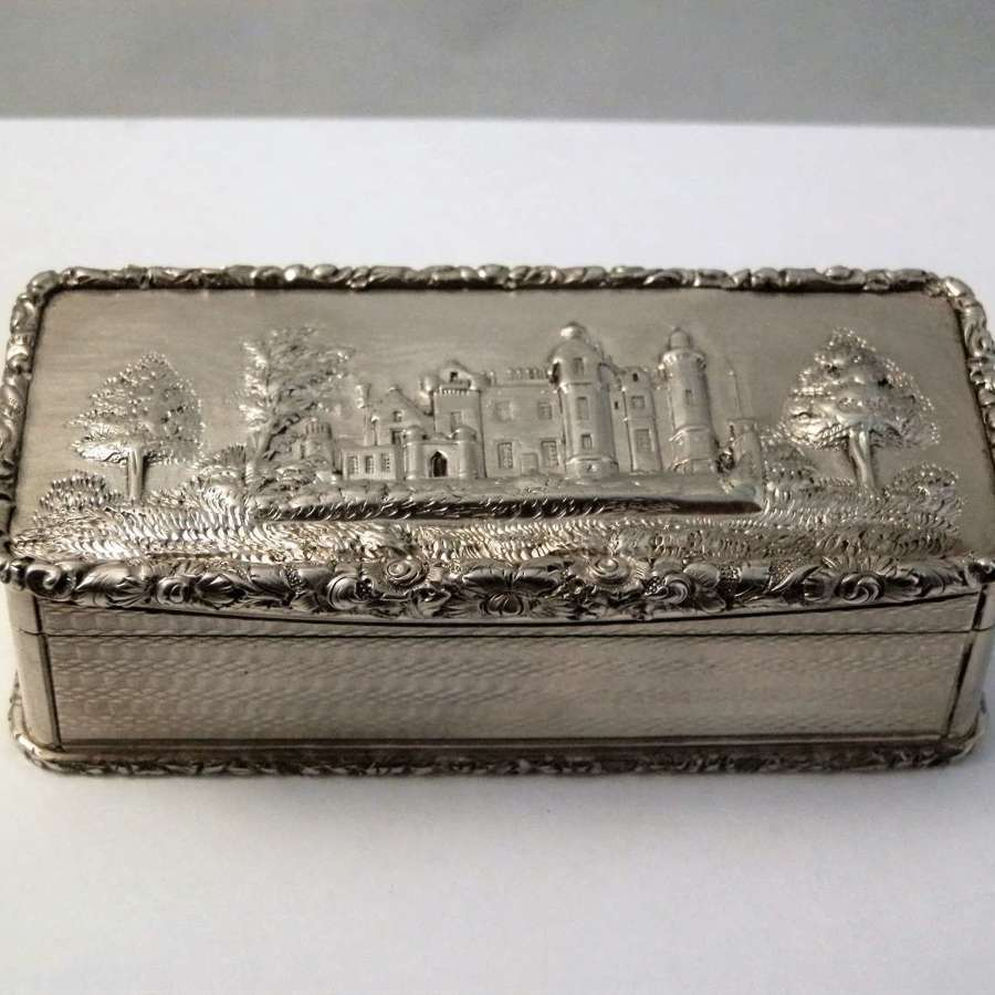 William IV silver snuff box, Abbotsford House, 1836